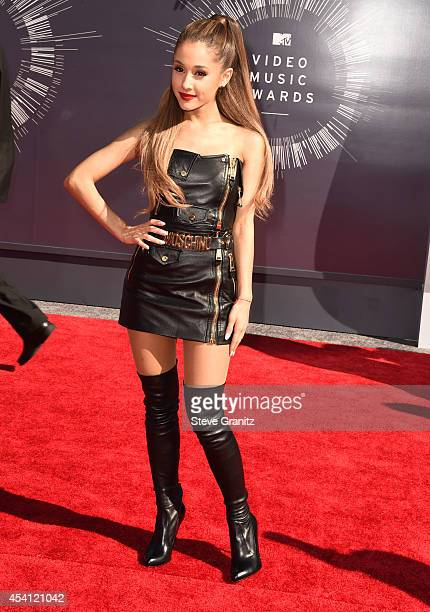 Ariana Grande arrives at the 2014 MTV Video Music Awards at The Forum on August 24 2014 in Inglewood California