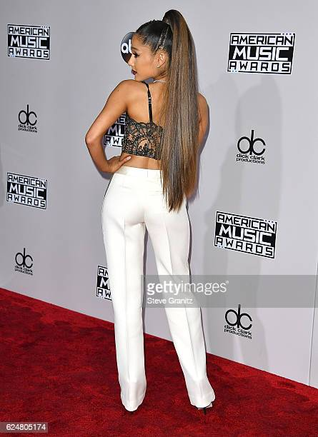 Ariana Grande arrives at the 2016 American Music Awards at Microsoft Theater on November 20 2016 in Los Angeles California