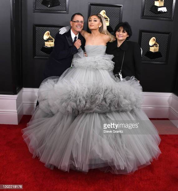 Ariana Grande arrives at the 62nd Annual GRAMMY Awards at Staples Center on January 26 2020 in Los Angeles California
