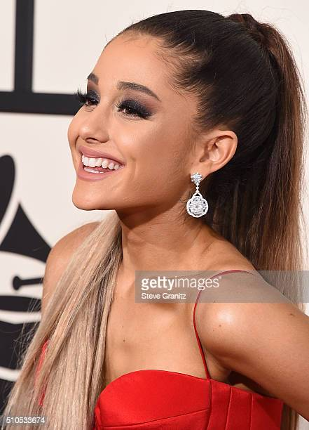 Ariana Grande arrives at the The 58th GRAMMY Awards at Staples Center on February 15 2016 in Los Angeles City