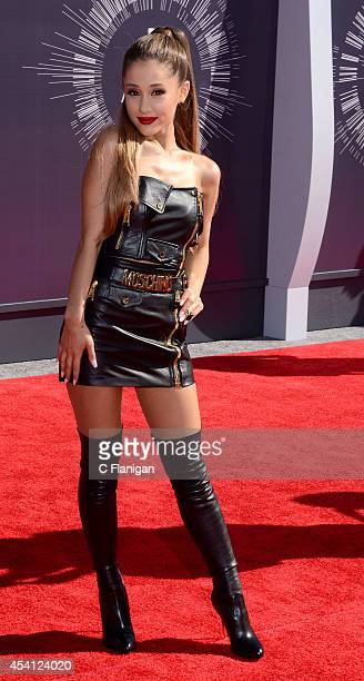 Ariana Grande arrives to the 2014 MTV Video Music Awards at The Forum on August 24 2014 in Inglewood California