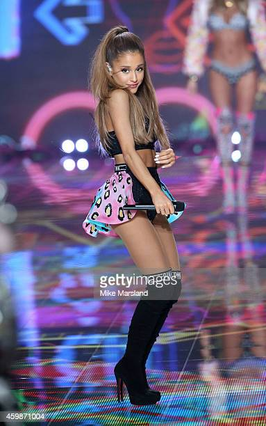 Ariana Grande at the annual Victoria's Secret fashion show at Earls Court on December 2 2014 in London England