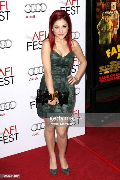 Ariana Grande attends AFI Fest 2009 'Fantastic Mr Fox' Premiere at Grauman's Mann Chinese Theatre on October 30 2009 in Hollywood California