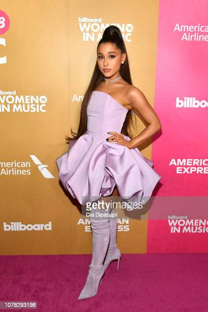Ariana Grande attends Billboard's 13th Annual Women in Music Event at Pier 36 on December 06 2018 in New York City
