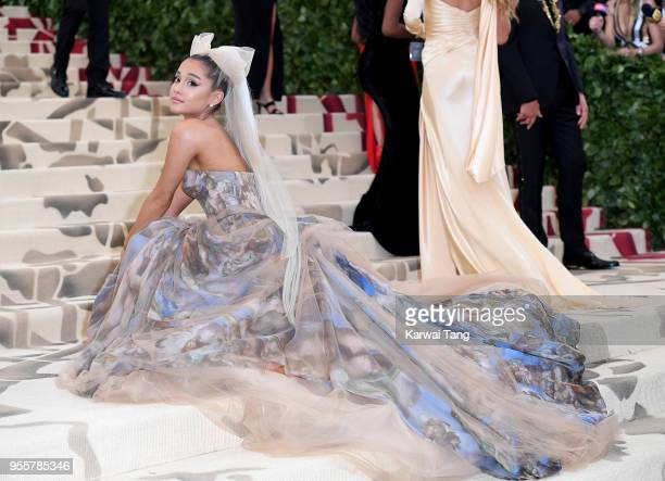 Ariana Grande attends Heavenly Bodies Fashion The Catholic Imagination Costume Institute Gala at the Metropolitan Museum of Art on May 7 2018 in New...
