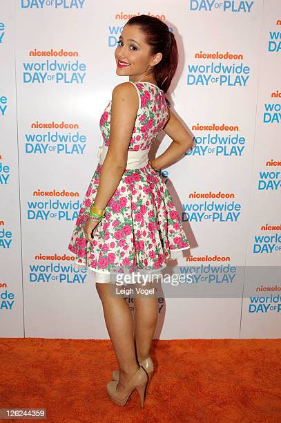 Ariana Grande attends Nickelodeon's celebration of the 8th Annual Worldwide Day of Play at The W Hotel on September 23 2011 in Washington DC
