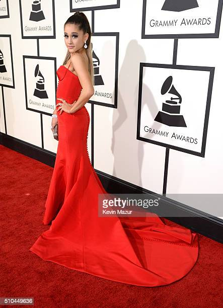 Ariana Grande attends The 58th GRAMMY Awards at Staples Center on February 15 2016 in Los Angeles California