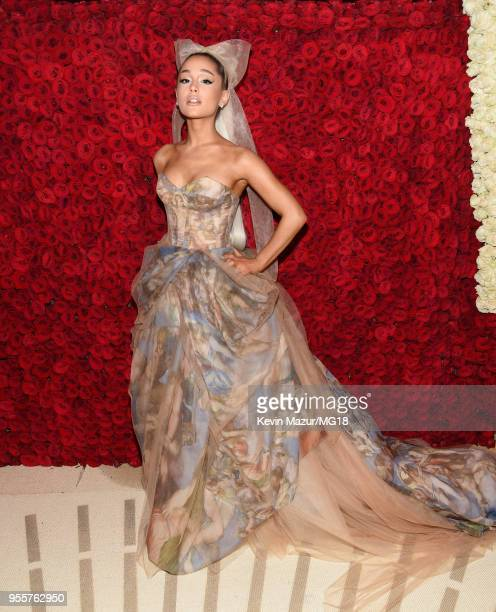 Ariana Grande attends the Heavenly Bodies Fashion The Catholic Imagination Costume Institute Gala at The Metropolitan Museum of Art on May 7 2018 in...