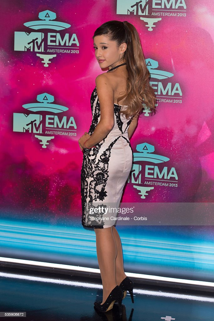 Ariana Grande attends the MTV EMA's 2013 at the Ziggo Dome in Amsterdam, Netherlands.
