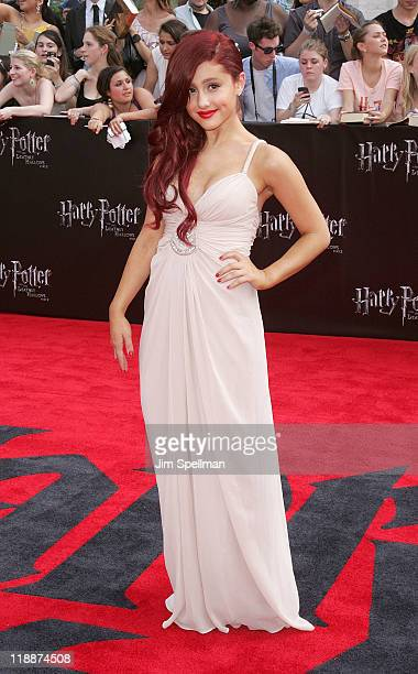 Ariana Grande attends the premiere of Harry Potter and the Deathly Hallows Part 2 at Avery Fisher Hall Lincoln Center on July 11 2011 in New York City