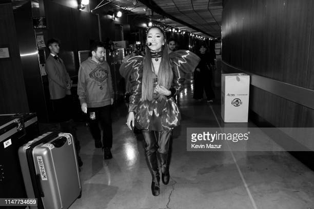 Ariana Grande backstage during Ariana Grande Sweetener World Tour at Staples Center on May 07 2019 in Los Angeles California