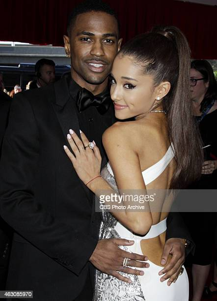 Ariana Grande Big Sean on the Red Carpet during The 57th Annual Grammy Awards Sunday Feb 8 2015 at STAPLES Center in Los Angeles and broadcast on the...