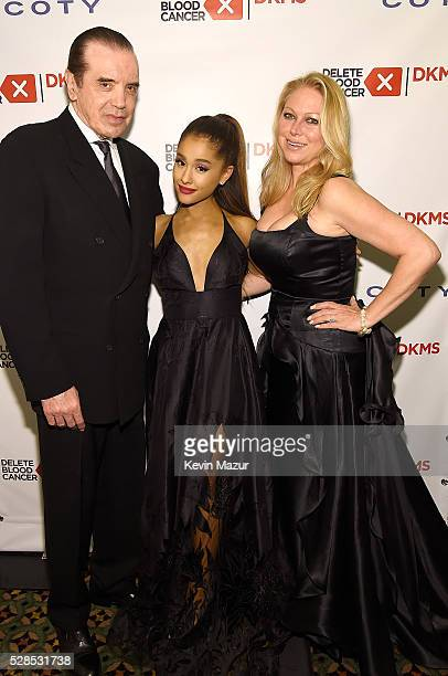 Ariana Grande Chazz Palminteri and Gianna Ranaudo attend the 10th Annual Delete Blood Cancer DKMS Gala at Cipriani Wall Street on May 5 2016 in New...