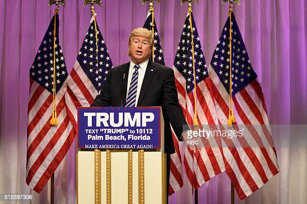 LIVE 'Ariana Grande' Episode 1698 Pictured Darrell Hammond as Donald Trump during the 'Carson Endorsement Cold Open' sketch on March 12 2016