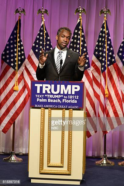 LIVE 'Ariana Grande' Episode 1698 Pictured Jay Pharoah as Doctor Ben Carson during the 'Carson Endorsement Cold Open' sketch on March 12 2016