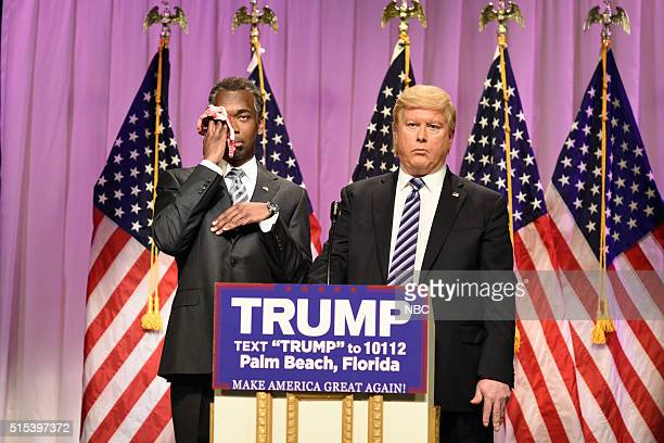 LIVE Ariana Grande Episode 1698 Pictured Jay Pharoah as Doctor Ben Carson and Darrell Hammond as Donald Trump during the Carson Endorsement Cold Open...