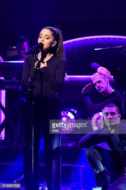 LIVE 'Ariana Grande' Episode 1698 Pictured Musical guest Ariana Grande performs on March 12 2016