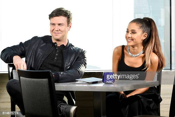 LIVE 'Ariana Grande' Episode 1698 Pictured Taran Killam and Ariana Grande on March 8 2016