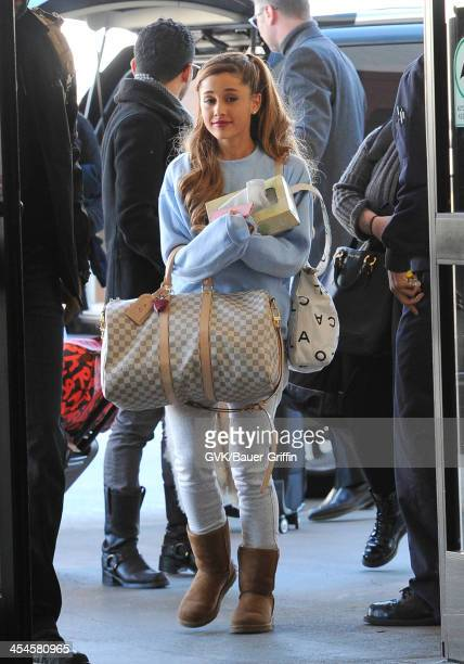 Ariana Grande is seen arriving at LAX airport on December 09 2013 in Los Angeles California