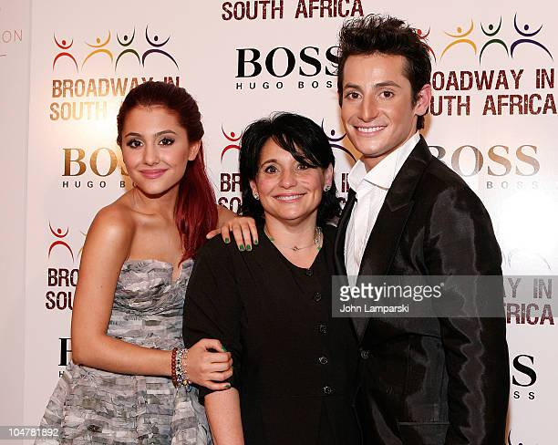 Ariana Grande Joan Grande and Frankie James Grande attend the 3rd Annual Broadway in South Africa Concert at The Manhattan Center on October 4 2010...