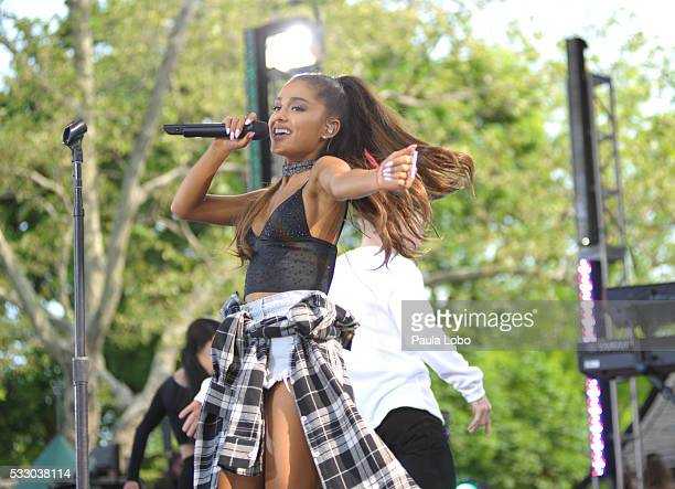 Ariana Grande kicks off the GMA Summer Concert Series from Central Park in New York City, on GOOD MORNING AMERICA, 5/20/16, airing on the Walt Disney...