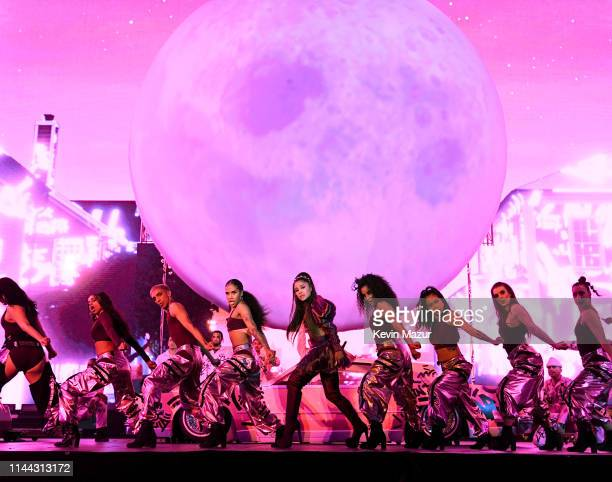 Ariana Grande performs at Coachella Stage during the 2019 Coachella Valley Music And Arts Festival on April 21 2019 in Indio California