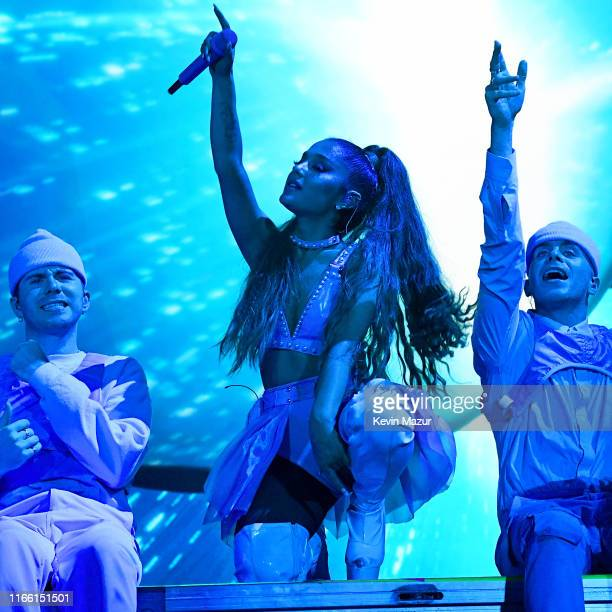 Ariana Grande performs at Lollapalooza at Grant Park on August 04 2019 in Chicago Illinois