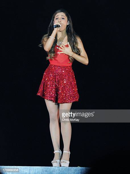 Ariana Grande performs at Philips Arena on August 10 2013 in Atlanta Georgia