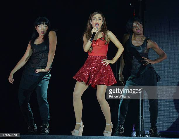 Ariana Grande performs at Phillips Arena on August 10 2013 in Atlanta Georgia