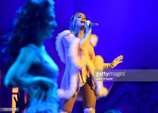 Ariana Grande performs at the 62nd Annual GRAMMY Awards on January 26, 2020 in Los Angeles, California.