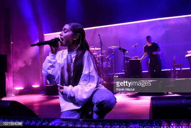 Ariana Grande performs at the American Express And Ariana Grande Present The Sweetener Sessions At Chicago's The Vic at The Vic Theater on August 22...