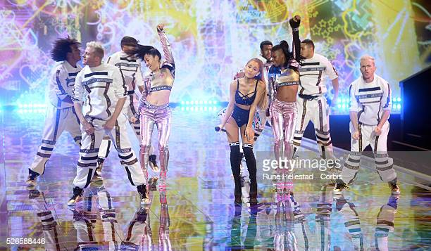 Ariana Grande performs at the Victoria's Secret Fashion Show at Earl's Court