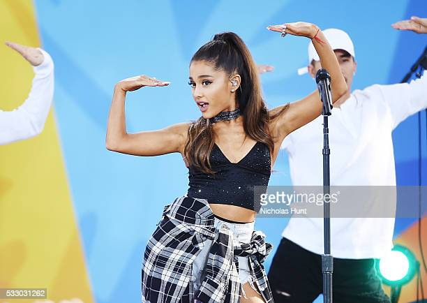 "Ariana Grande Performs During ABC's ""Good Morning America's"" 2016 Summer Concert Series at Rumsey Playfield, Central Park on May 20, 2016 in New York..."