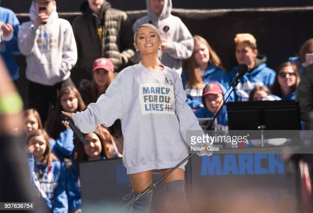 Ariana Grande performs during March For Our Lives on March 24 2018 in Washington DC