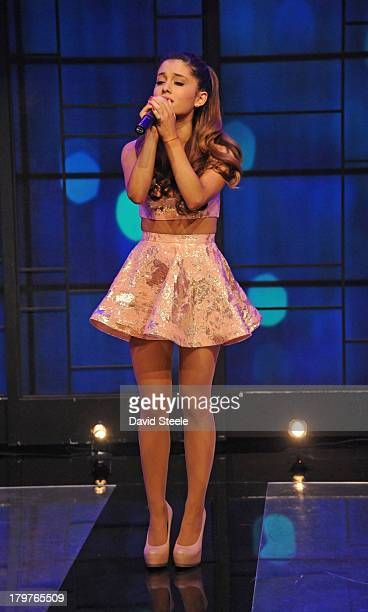 MICHAEL 9/5/13 Ariana Grande performs on LIVE with Kelly and Michael distributed by DisneyWalt Disney Television via Getty Images Domestic Television...