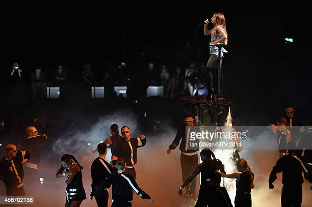 Ariana Grande performs on stage during the MTV EMA's 2014 at The Hydro on November 9 2014 in Glasgow Scotland