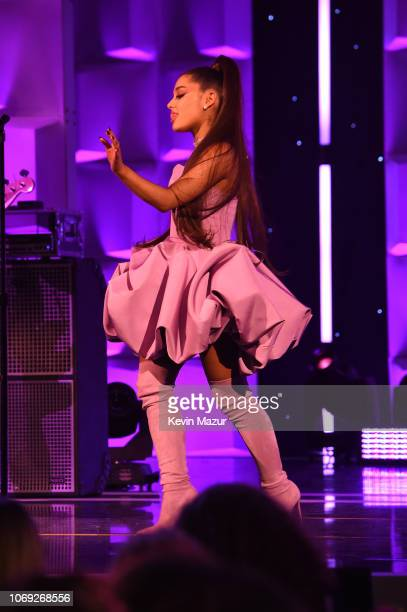 Ariana Grande performs onstage at Billboard Women In Music 2018 on December 6 2018 in New York City