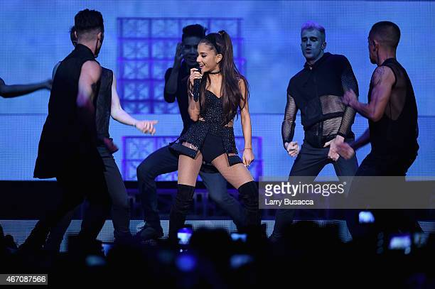 Ariana Grande performs onstage at Madison Square Garden on March 20 2015 in New York City