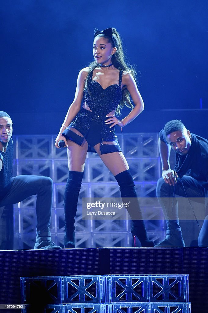Ariana Grande Performs Onstage At Madison Square Garden On March 20, 2015  In New York
