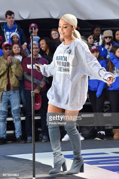 Ariana Grande performs onstage at March For Our Lives on March 24 2018 in Washington DC