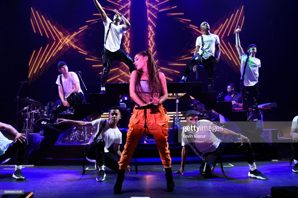 Ariana Grande performs onstage at the Amazon Music Unboxing Prime Day event in Brooklyn on July 11, 2018 in Brooklyn, New York.