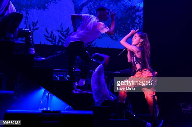 Ariana Grande performs onstage at the Amazon Music Unboxing Prime Day event in Brooklyn on July 11 2018 in Brooklyn New York