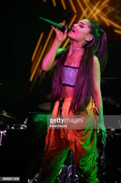 Ariana Grande performs onstage at the Amazon Music Unboxing Prime Day event on July 11 2018 in Brooklyn New York
