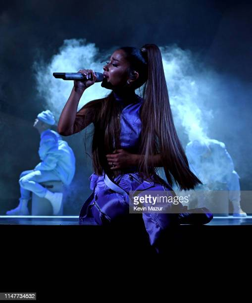 Ariana Grande performs onstage during Ariana Grande Sweetener World Tour at Staples Center on May 07 2019 in Los Angeles California