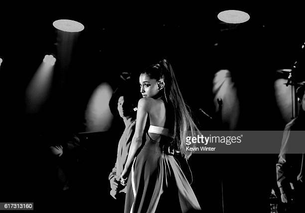 Ariana Grande performs onstage during CBS RADIO's fourth annual We Can Survive concert at the Hollywood Bowl on October 22 2016 in Hollywood...