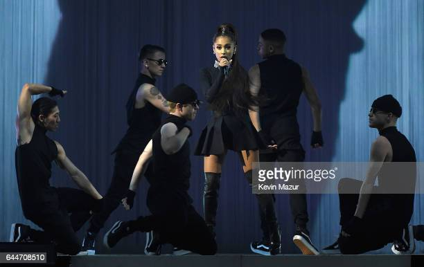 Ariana Grande performs onstage during her Dangerous Woman tour at Madison Square Garden on February 23 2017 in New York City