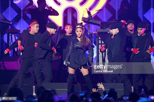 Ariana Grande performs onstage during Power 961's Jingle Ball 2016 at Philips Arena on December 16 2016 in Atlanta Georgia