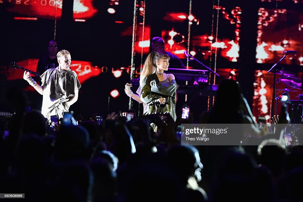 Ariana Grande performs onstage during the 2016 Billboard Hot 100 Festival - Day 1 at Nikon at Jones Beach Theater on August 20, 2016 in Wantagh, New York.