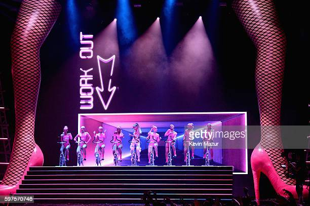 Ariana Grande performs onstage during the 2016 MTV Video Music Awards at Madison Square Garden on August 28 2016 in New York City