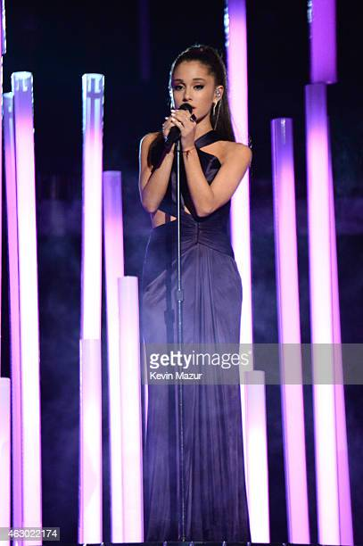 Ariana Grande performs onstage during The 57th Annual GRAMMY Awards at the STAPLES Center on February 8 2015 in Los Angeles California